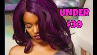 Purple Hair for Under $30?? | Outre Sherise Lace Front Wig