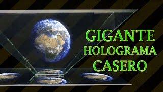 Como Hacer un Gigante Proyector de Hologramas Casero (DIY Giant Hologram Projector)