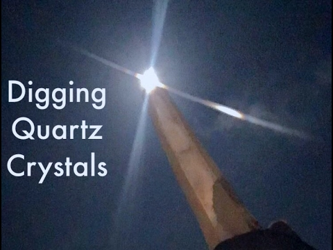 "Prospecting to Dig New Quartz Gems in South Carolina ""The Crystal Farm"""
