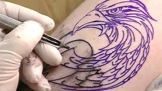 How To Tattooing BLACK Tattoo [Part 1] | Close Up. Tattoo tutorials