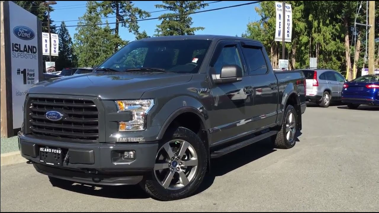 2016 ford f 150 xlt fx4 sport supercrew 4x4 lithium grey review island ford