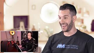 VOCAL COACH reacts to MARC MARTEL singing KILLER QUEEN in one take