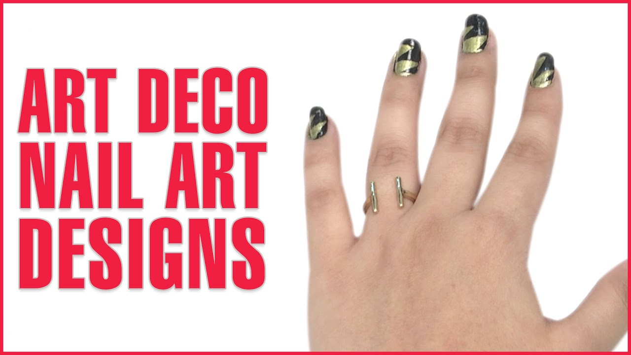 Amazing Art Deco Nail Tutorial For Enchantingly Beautiful Nails