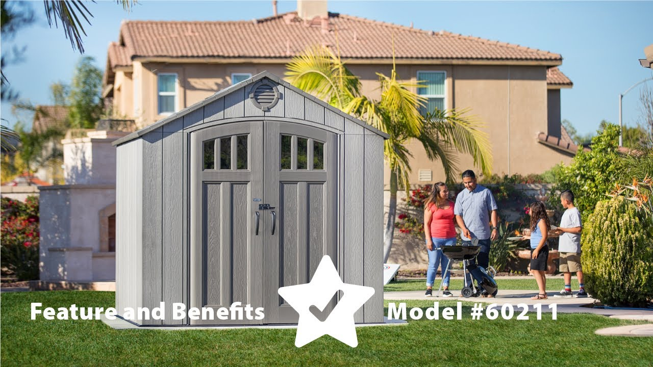 New Lifetime 8 X 10 Storage Shed Rough Cut Version
