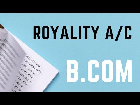 Royalty Account (Hindi)-M.COM ENTRANCE, B.COM, NET, SET