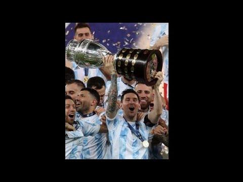 Lionel Messi lifts Copa America 2021 title | Argentina Brazil #Shorts