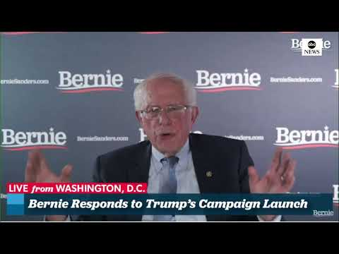 Sen. Bernie Sanders responds to President Trump's 2020 re-election rally   ABC News