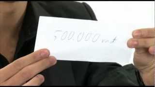 Hướng dẫn ảo thuật - Biến giấy thành tiền trong tíc tắc