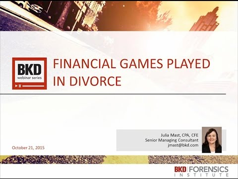 Financial Games Played in Divorce