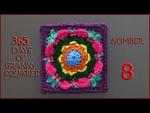 365 Days of Granny Squares Number 8