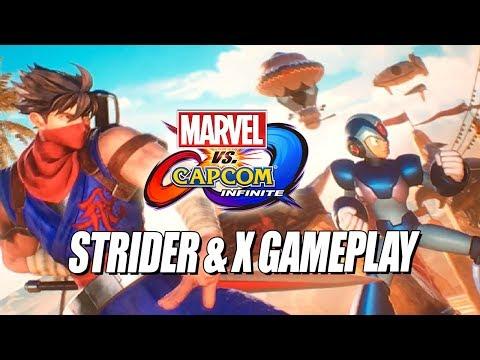 STRIDER & MEGA MAN X  Gameplay W/Maximilian (Marvel Vs. Capcom Infinite)