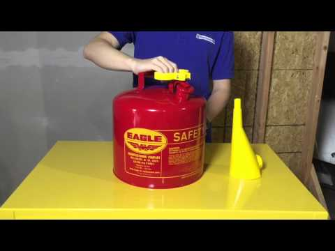 Eagle Type I Safety Cans: Store Gas and Flammables the Right Way.