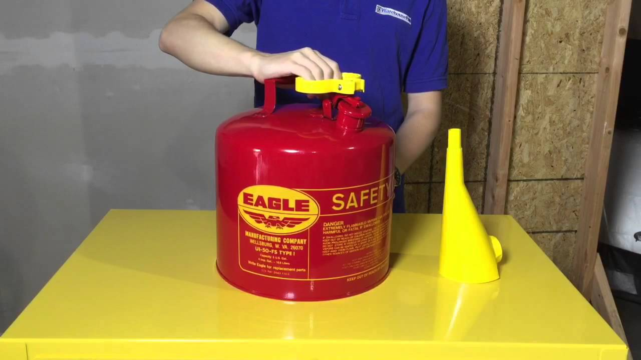 Safety Gas Can >> Eagle Type I Safety Cans Store Gas And Flammables The Right Way