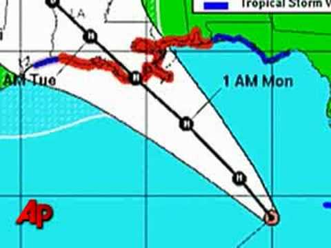 Hurricane Warning Posted for Gulf Coast