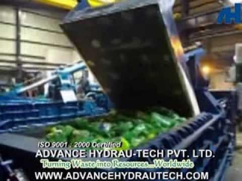 PET Bottle Recycling Process - Scrap PET Bottle Baler