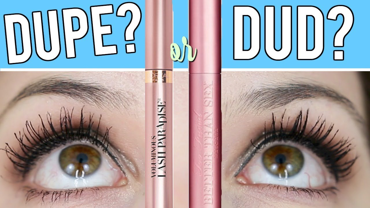 b7f9705f40f L'OREAL LASH PARADISE VS TOO FACED BETTER THAN SEX l DUPE OR DUD ...