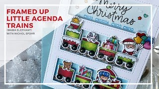 Mama Elephant Stamps | Little Agenda Trains Christmas Card