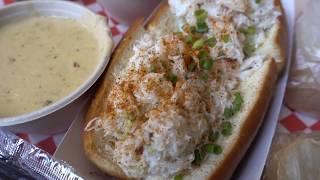 蟹のサンドウィッチと4種類のクラムチャウダー シアトル【パイクプレイスチャウダー】クラブサンドウィッチ・ニューイングランド・帆立・スモークサーモン・蟹みそ Pike Place Chowder