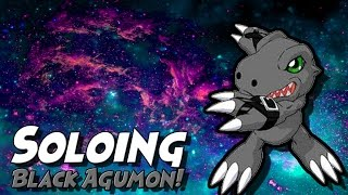 Soloing Black Agumon! | Digimon Aurity | Roblox