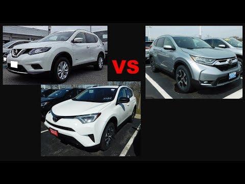 2018 Honda CR-V vs 2018 Toyota RAV4 vs 2017.5 Nissan Rogue