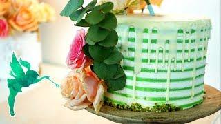 Torten trend gestreifte Torten aus Creme - Motivtorte ohne Fondant - Striped cake - Kuchenfee