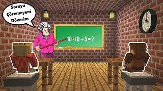 DELİ ÖĞRETMEN ÇOCUKLARA KIZIYOR! 😱 - Minecraft Scary Teacher Mod