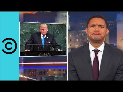Trump's Deeply Philosophical UN Speech   The Daily Show