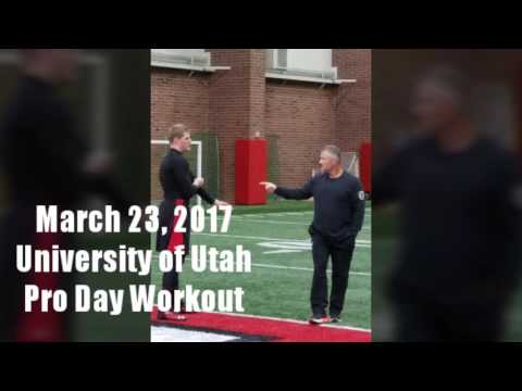 Joe Kruger DE NFL Free Agent Workout at the University of Utah Pro Day March 23rd 2017