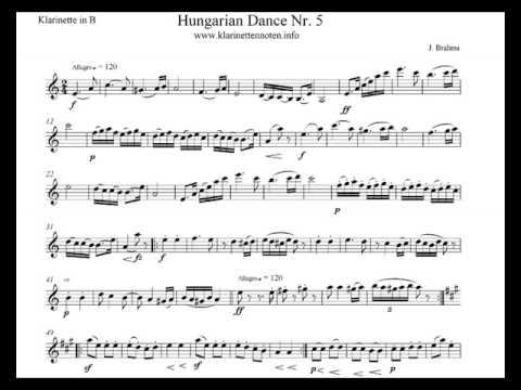 Play Clarinet - Ungarischer Tanz No5