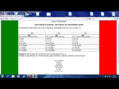 italienisch lernen anf nger italienische verben im pr sens verbi regolari al presente youtube. Black Bedroom Furniture Sets. Home Design Ideas