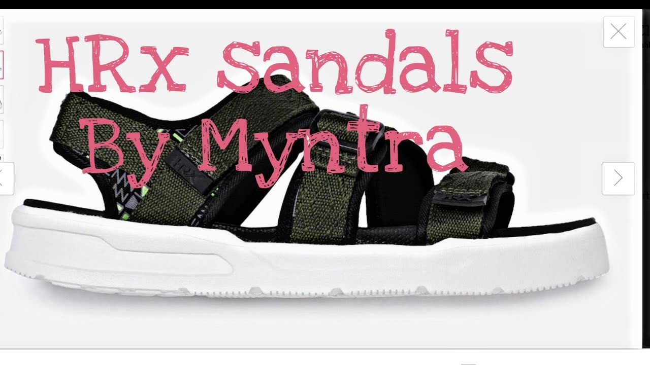 HRX olive green sandals by myntra - YouTube