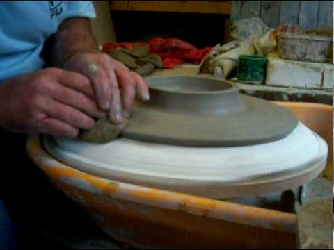 pottery slump mold plate & pottery slump mold plate - YouTube