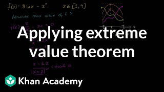 Finding absolute extrema on a closed interval | AP Calculus AB | Khan Academy