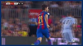 Andre gomes vs sampdoria (home) 10/08/2016 | debut for barcelona spanish commentary hd