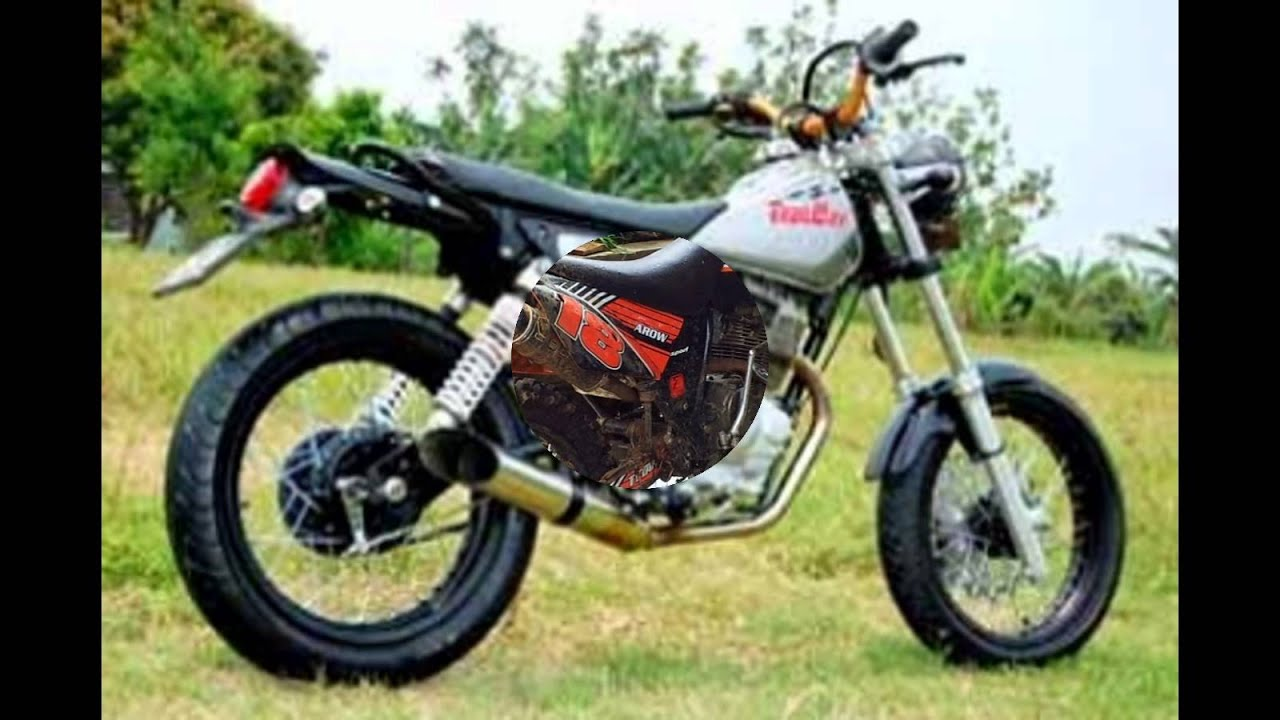 video modifikasi motor jadul honda gl pro modif trail - youtube