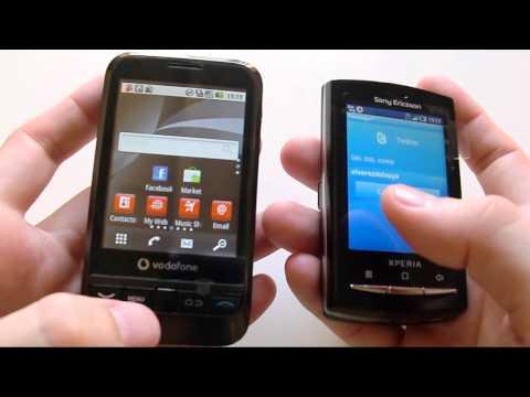 Comparativa Vodafone 845 vs SE Xperia X10 mini PRO | goponygo.com