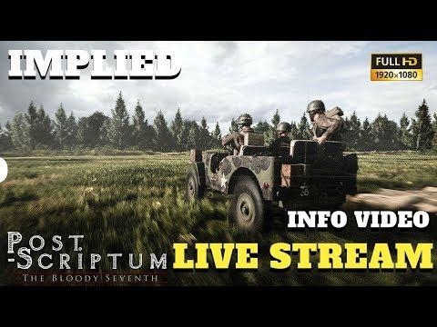 Post Scriptum - Stream Ankündigung Heute 21 Uhr Live - Info Video