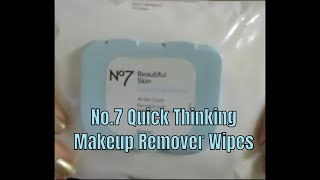No 7 Quick Thinking Makeup Remover Wipes