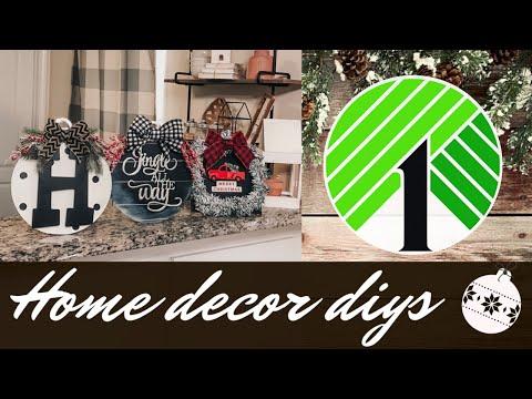 Dollar Tree Christmas DIY 2019 | Easy Christmas Farmhouse Home Decor | Wall Decor