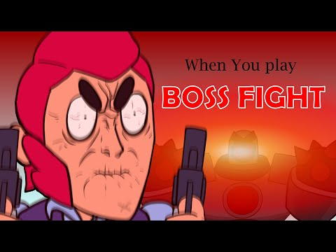 BRAWLSTARS ANIMATION WHEN YOU PLAY BOSS FIGHT