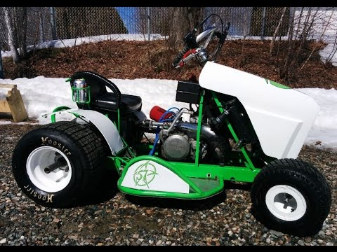 racing mower kart 2 strokes yz 250 first test run. Black Bedroom Furniture Sets. Home Design Ideas