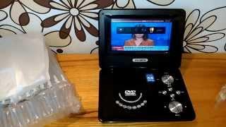 Многофункциональный Портативный Телевизор DVD, USB проигрыватель в авто(Работает от сети и от прикуривателя автомобиля,а также,имеет встроенный аккумулятор (примерно 2 часа работы..., 2015-11-01T08:22:12.000Z)