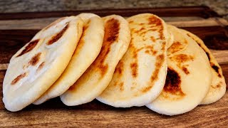 Delicious Pita Bread Recipe -  Homemade Naan Bread Easy!