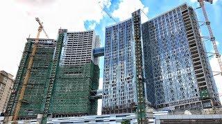 [4K]MEGA Construction The Bridge Cambodia, 45 Floors Tallest Building (Under Construction 4)