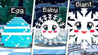 How to Tame a BABY SNOWFLAKE in Minecraft! *cute*