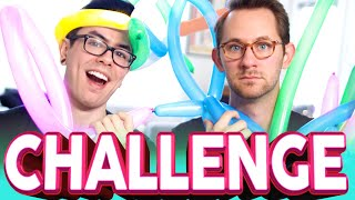 BALLOON ANIMAL CHALLENGE | NateWantsToBattle & Matthias