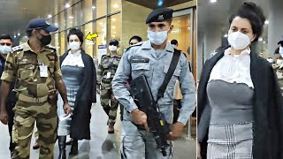 Kangana Ranaut VIP ENTRY With Z+ SECURITY Commandos At Mumbai Airport! Bol Bollywood News