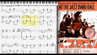 At the Jazz Band Ball by the Original Dixieland (1918, Ragtime piano)