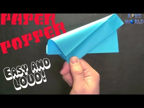 Thumbnail: How to Make a Paper Popper! (Easy and Loud) - Rob's World