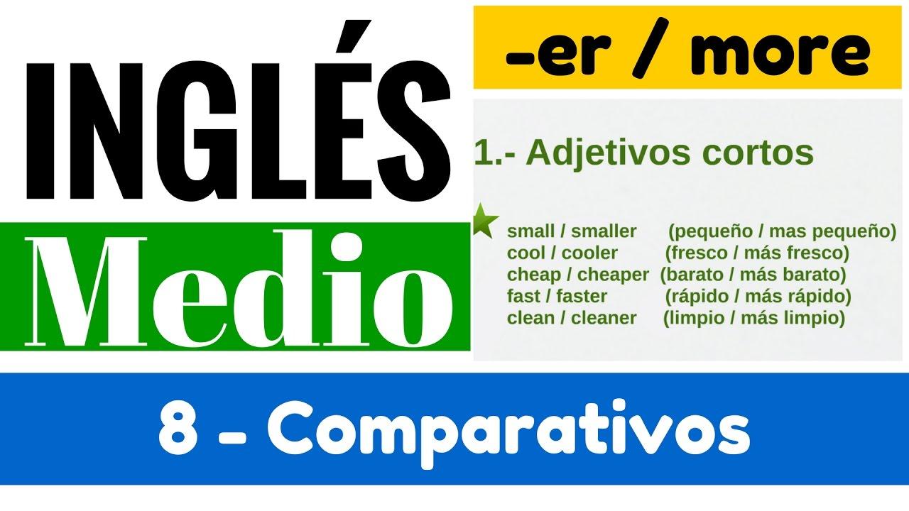 Comparativos En Inglés Reglas De Adjetivos Y Oraciones Yes En Inglés 2 Video 8